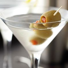 Vodka Martini with Extra Olives