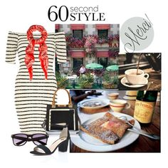 """""""60 Second Style - Off-Shoulder Dress - Breton style"""" by shistyle ❤ liked on Polyvore featuring River Island, Temperley London, WALL, plussize, Breton, offshoulderdress and 60secondstyle"""