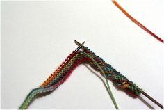 Красивое оформление края вязаных спицами изделий: кручёный спиралью кант