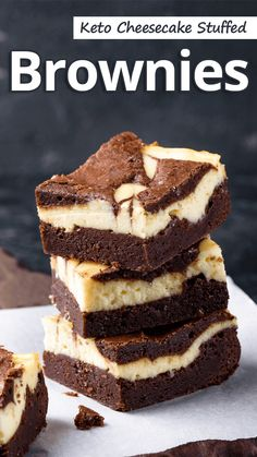 Keto Cheesecake Stuffed Brownies Recommended Tips - Keto Brownies - Ideas of Keto Brownies - These Keto Cheesecake Stuffed Brownies are dense and fudgy with a beautiful swirl. They are quick to make and have only 6 ingredients! Low Carb Desserts, Low Carb Recipes, Dessert Recipes, Diet Recipes, Keto Cheesecake, Keto Cake, Cheesecake Cupcakes, Cheesecake Brownies, Dessert