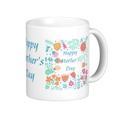 Happy Mother's Day Floral Frame Mugs