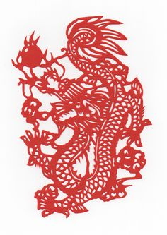 Chinese Papercut - Year of the Dragon.