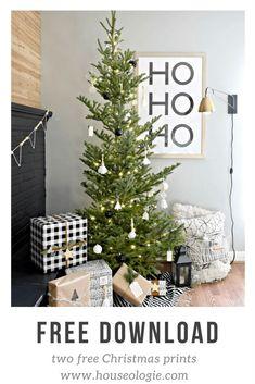 Free Modern Minimal Christmas Prints