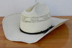 Vintage Eddy Bros Bangora XXXXX Creme Colored Straw Cowboy Hat Size 6 3 4  00219 b1e9d72f3ee9