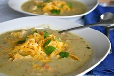 Creamy Green Chile Soup {Vegetarian and Gluten Free!}