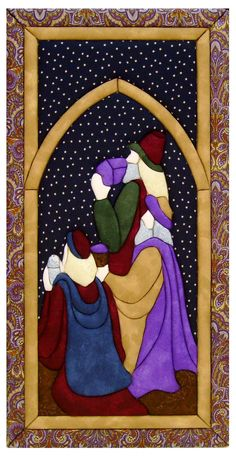 image not available Christmas Rugs, Christmas Quilt Patterns, Christmas Applique, Christmas Sewing, Christmas Nativity, Christmas Wood, Christmas Crafts, Christmas Door Decorating Contest, Stained Glass Quilt