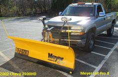 2002 Chevy 2500HD Meyer Lot Pro 8 Chevy 2500hd, 2002 Chevy Silverado, Snow Plow, 4x4, Trucks, Accessories, Truck, Cars