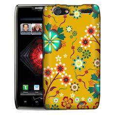 Motorola Droid Razr Maxx Colorful SunFlowers on Yellow Slim Case