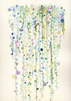 Beautiful watercolor.... This would be fantastic to do on a wall... Like a bath or laundry room