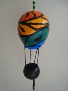 Cabaça com Arte: Balões em cabaças