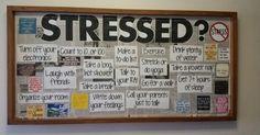 Stress tips bulletin board - Esare Poyna Counselor Bulletin Boards, Health Bulletin Boards, Nurse Bulletin Board, College Bulletin Boards, Interactive Bulletin Boards, Friends Bulletin Board, High School Counseling, School Social Work, School Counselor