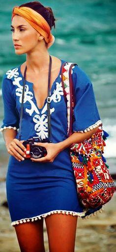 beach coverup & accessories