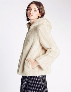 Buy the The Crown Jacket from Marks and Spencer's range. Faux Fur Jacket, Fur Coat, Spy Outfit, Lady M, New Fashion, Womens Fashion, The Crown, Coats For Women, Winter Jackets