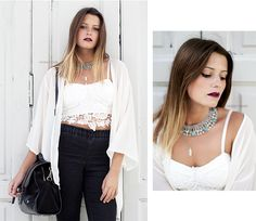 Bárbara Inês from Banging Fashion wearing our @pinlovelybreeze Feather Pendant