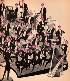 """I love this illustration from the book """"What makes an Orchestra?"""" by Jan Balet.  Just wonderful!"""