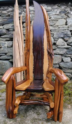Handmade, unique story telling chairs and more from Wild Welsh Wood Check out their website to find out where you can see their work locally and when their workshop is open