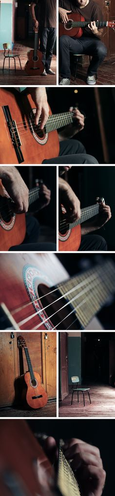 9 high-res pictures of acoustic guitar and a man. Use them for your new post,