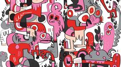 Jon Burgerman is a UK born, NYC based artist, famed for his instantly recognisable drawings, doodles, characters and murals. Line Doodles, Doodle Inspiration, Collage Illustration, Historical Images, Laptop Stickers, Urban Art, Doodle Art, Body Painting, Artsy Fartsy