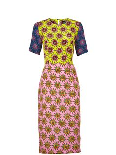HOUSE OF HOLLAND Floral Contrast Emily Dress - Multi | veryexclusive.co.uk