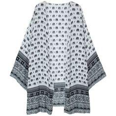 Ethnic Summer Women Pattern Printed Half Sleeve Kimono Beach Cardigans (15 AUD) ❤ liked on Polyvore featuring tops, cardigans, cardigan kimono, short-sleeve cardigan, print kimono, summer cardigan and patterned cardigan