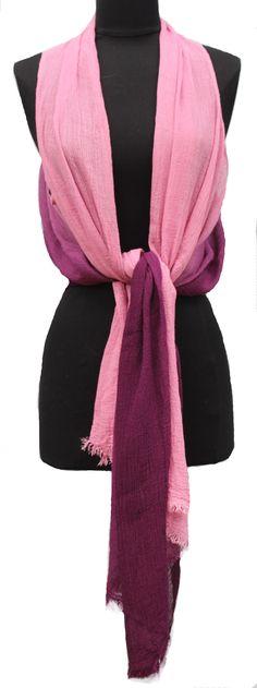 Ombre Lightweight Kimono Vest/Scarf - Purple