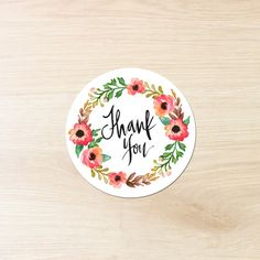 Thank You Sticker Thanks Sticker Stickers by HangingWillow