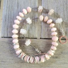 SALE Pink Peruvian Opal Necklace Pink Opal by CoastAndMountainArts