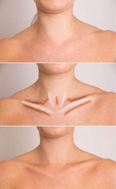 Highlighting & contouring collarbones