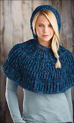 Ravelry: Cowl in the Wool Capelet pattern by Annette Stewart