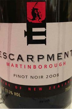 Escarpment Pinot Noir New Zealand   http://www.snooth.com   #wine