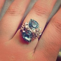 I just discovered this while shopping on Poshmark: Blue Topaz Ring. Check it out!  Size: OS