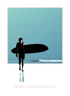Solitary Surfer by Mofo Illustration
