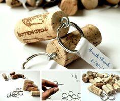 Weinkorken Schlüsselhänger selber machen Design