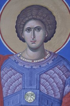 Last year we posted an article about young Romanian iconographers creating traditional icons looking partially to modern art for elements to include in their work. With the spiritual renewal of R… Byzantine Art, Byzantine Icons, Romanian Revolution, Becoming A Monk, Paint Icon, S Icon, Saint George, Orthodox Icons, Art Studies