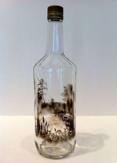 bouteilles peintes a la fumee par jim dangilian 10   Les bouteilles peintes à la fumée de Jim Dingilian   photo peinture Jim Dingilian image...