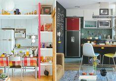 Cada vez mais as pessoas estão deixando o medo de ousar de lado e investindo em cores na decoração. Uma casa com ambientes coloridos pode transformar até o humor das pessoas. Vamos começar pela cozinh