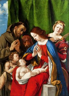 Lorenzo Lotto ~ Madonna col Bambino, san Giovannino e due santi ~ (1506-1508) ~ Courtesy of the Muzeum Narodowe, Cracovia