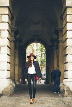 Black & Burgundy- The Londoner