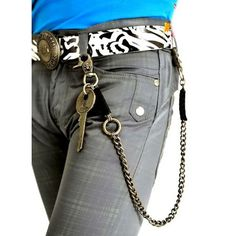 Copper Key Gothic Punk Emo Pants Jeans Chain Clothing Accessories Shop  SKU-71117024