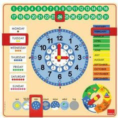 Kalenderuhr ca. April March, The 5th Of November, Therapy Activities, Activities For Kids, 4 Year Old Boy, English Fun, Science Tools, Kids Calendar, Magnetic Calendar