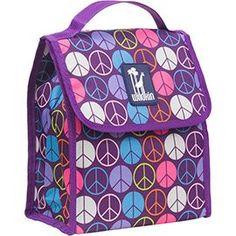 Purple Peace Signs Munch N' Lunch Bag