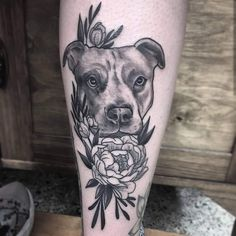 Dog Memorial tattoo No better way to immortalize your beloved pet than with a realistic portrait tattoo from Pablo Morte. Dog Memorial tattoo No better way to immortalize your beloved pet than with a realistic portrait tattoo from Pablo Morte. A Tattoo, Mom Tattoos, Trendy Tattoos, Future Tattoos, Body Art Tattoos, Sleeve Tattoos, Pet Memory Tattoos, Tattoo For Dog, Tatoos