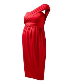 Scarlet Red Convertible Maternity Cocktail Dress