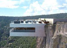 """В Альпах намерены построить """"стекающую"""" с горы гостиницу"""
