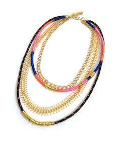 Assumer le denim pour bosser (H&M en ligne) avec un joli collier Multi Strand Necklace, Trending Outfits, Unique Jewelry, Handmade Gifts, My Style, Bracelets, Chains, Etsy, Vintage