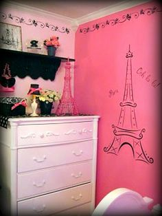 'Parisian Vintage Barbie Girls Room' Collection - Photo 10 #girlsroom #kidsrooms #kidsdecor