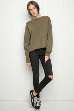 Brandy ♥ Melville | Acacia Sweatshirt - Pullovers - Sweaters - Clothing