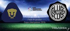 Pumas vs Olimpia, Copa Libertadores 2016 ¡En vivo por internet! - https://webadictos.com/2016/04/06/pumas-vs-olimpia-libertadores-2016/?utm_source=PN&utm_medium=Pinterest&utm_campaign=PN%2Bposts
