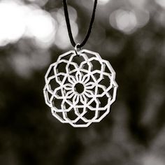 Pattern by @drunkenouveau #sacredtribe #pendant #flower #artwork #jewelry #lasercut #wood by sacred_tribe