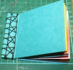 Bookbinding for children: how to prepare the books for Japanese bookbinding